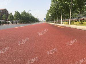 彩色路面根据材料性能及实际应用
