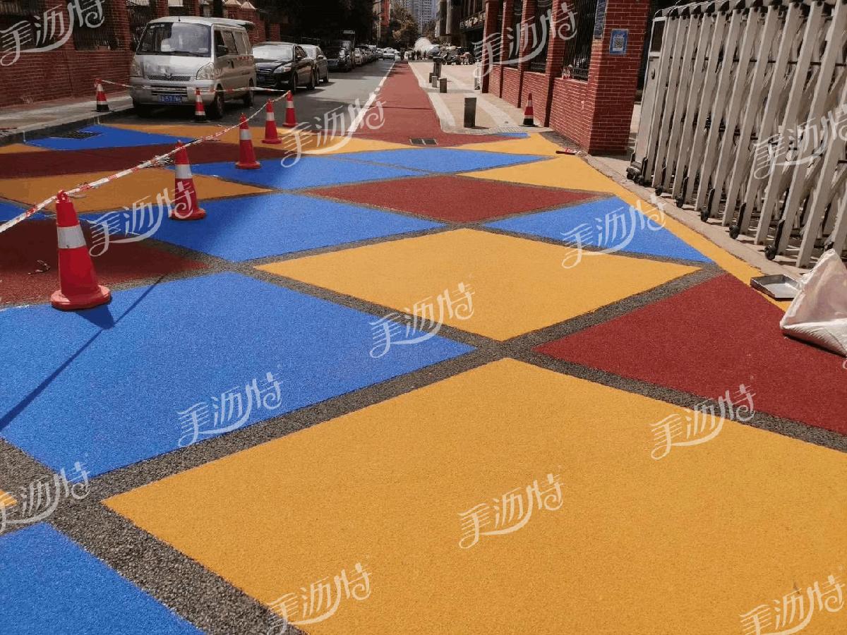 道路使用彩色路面材料为城市打造最美风景
