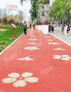 江苏公园景区人行道透水路面怎么做?