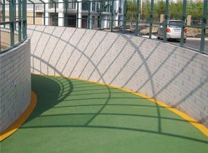 车库坡道彩色防滑路面应用