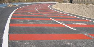 弯道路面彩色防滑路面应用
