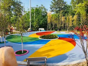 园林景区彩色防滑路面应用