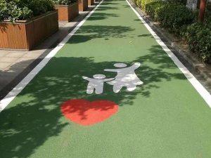 陶瓷颗粒防滑路面如何施工